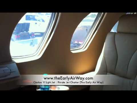 Citation V Private Jet Tour: Private Jet Charter in Orange County, Los Angeles