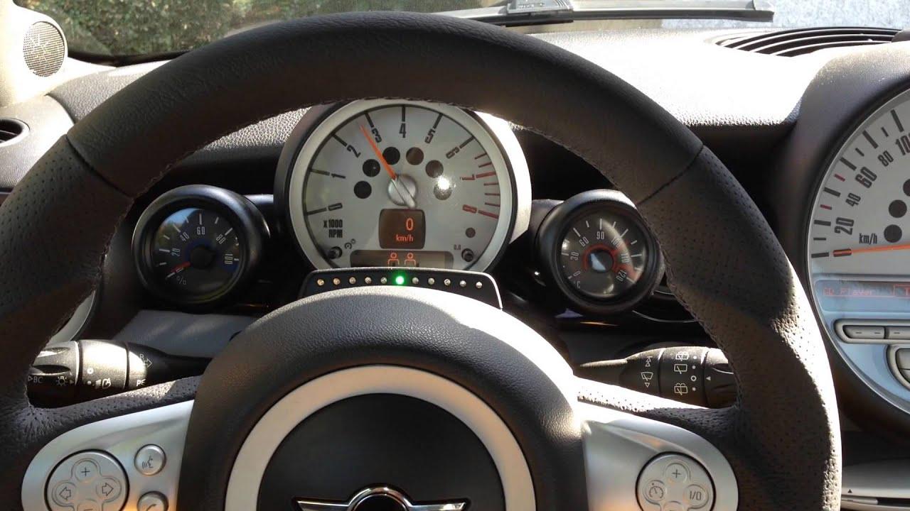 mini jcw works gear shift new steering wheel gauge r56. Black Bedroom Furniture Sets. Home Design Ideas