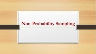 Sampling Techniques Part-8 (Non-Probability Sampling Techniques)