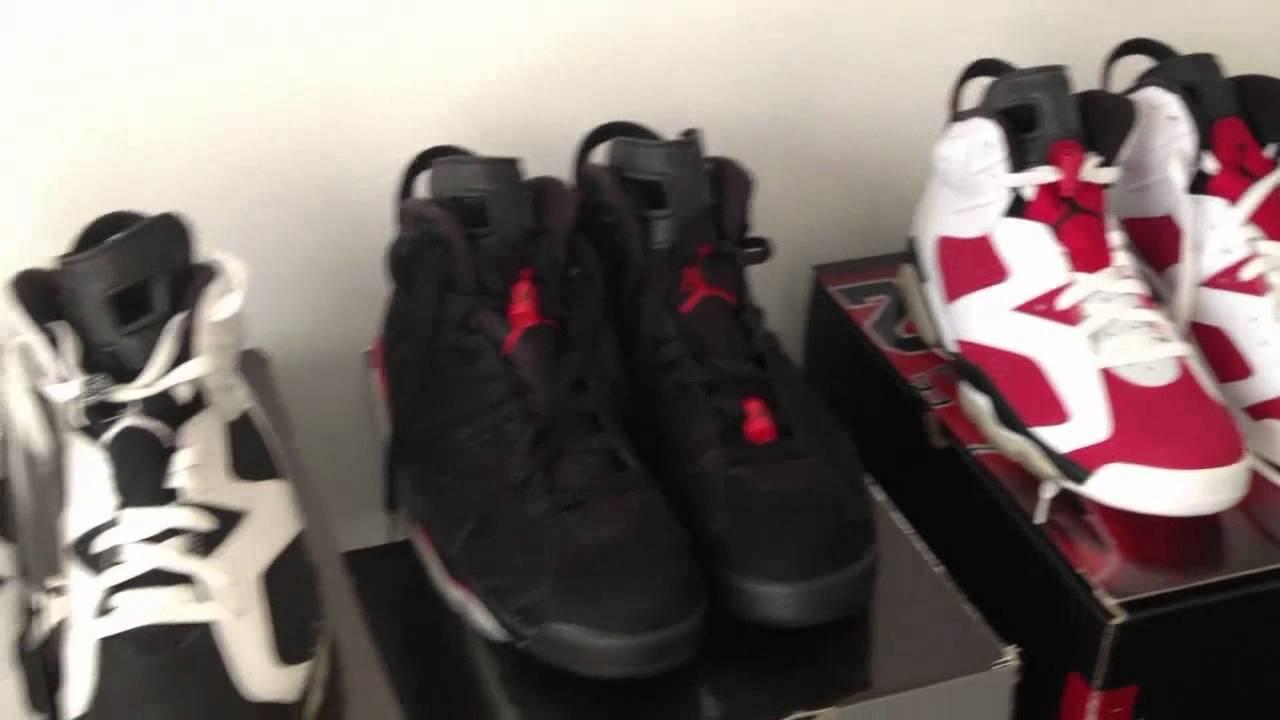 9b56d2a1f14d80 Nike Air Jordan 6 VI Collection - YouTube