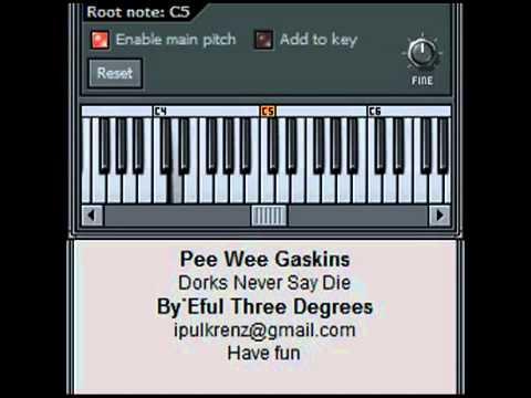 Pee Wee Gaskins - Dorks Never Say Die (synth cover)