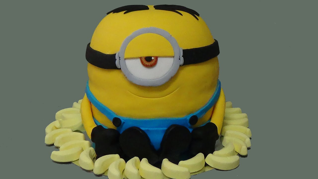 How To Make Minion Cake Youtube