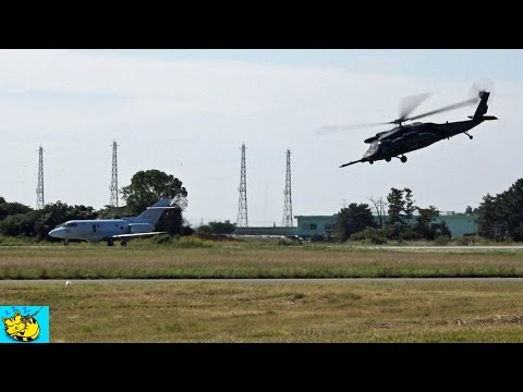 U 125A vs UH 60J  ゼロスタート。加速はどっちが速い・?? : Acceleration from zero.jet aircraft vs Helicopter.
