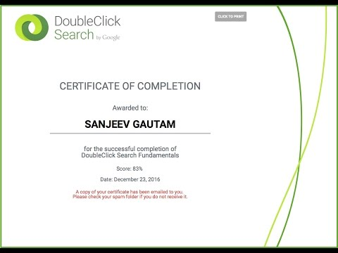 DoubleClick Search Certification Exam - YouTube
