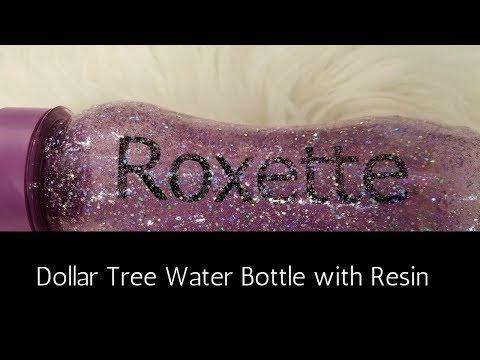 Back to School Dollar Tree Resin Water Bottle