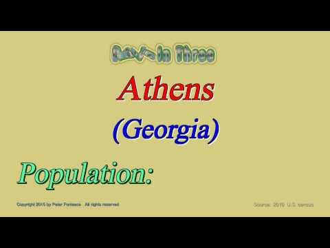 Athens Georgia Population 2010 - Digits in Three