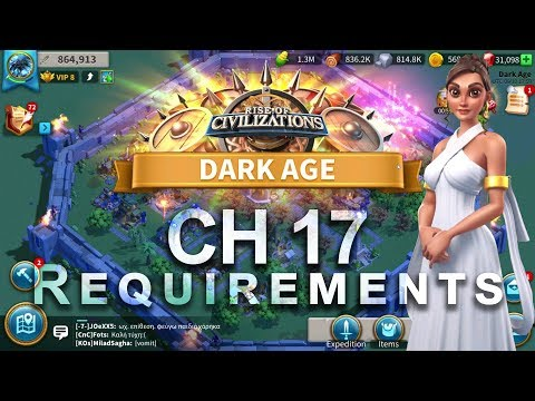 Rise of Civilizations - City Hall 17 Requirements