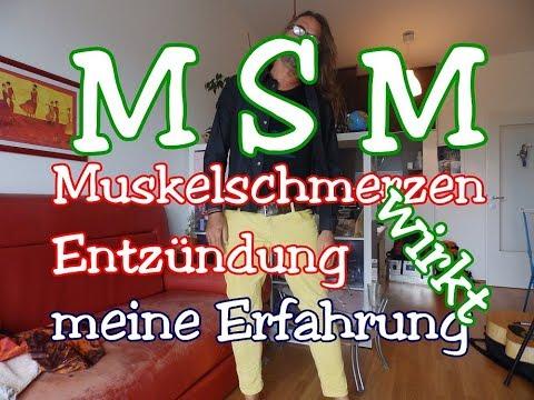 Download Youtube: MSM wirkt- MuskelSchmerz-Entzündung-Sport-meine ERFAHRUNG