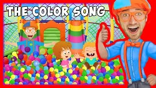 The Color Song by Blippi   Learn Colors for Toddlers