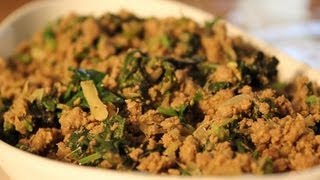 Easy Indian Recipes -- Hara Masala Keema (ground Beef With Green Spices)