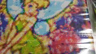 FULL BEADS Tinkerbelle stained glass effect DIY diamond painting kit
