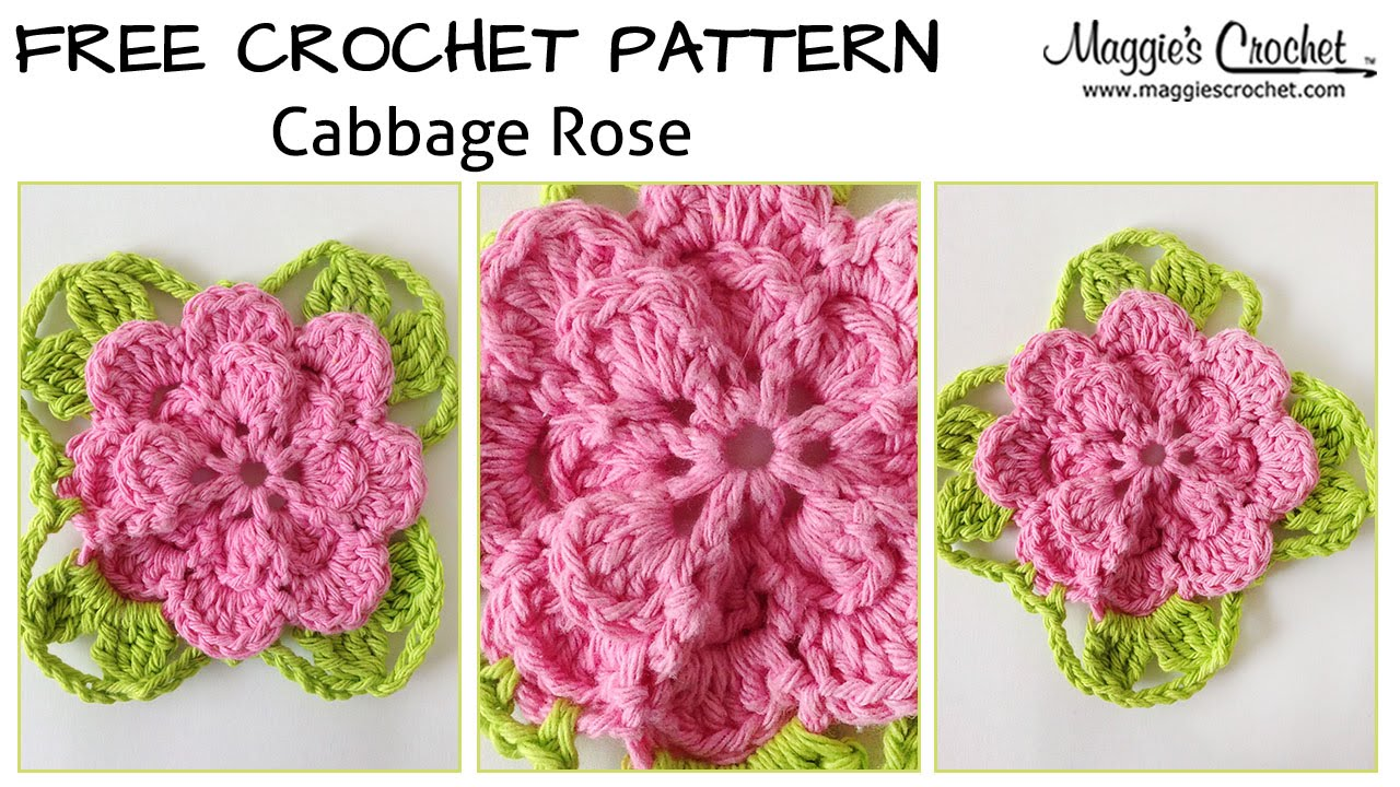 Free Crochet Pattern For Cabbage Rose : Cabbage Rose Free Crochet Pattern - Right Handed - YouTube
