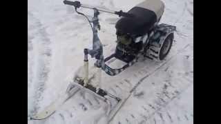 Мини-снегоход для льда