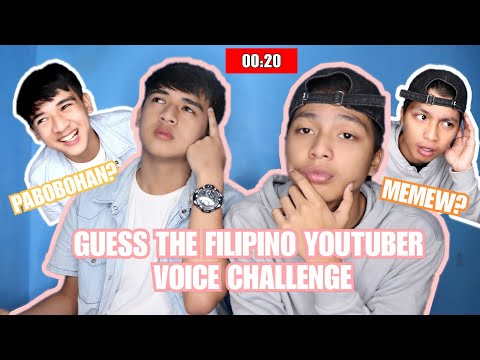 Guess The Filipino Youtuber Voice Challenge (LAUGHTRIP!)