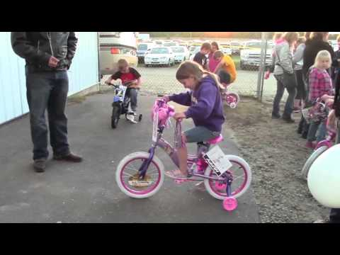 Mills Annual Bike Give Away at Kid's Night, North Central Speedway