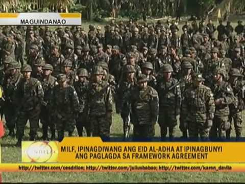 Moro rebels celebrate Eid'l Adha