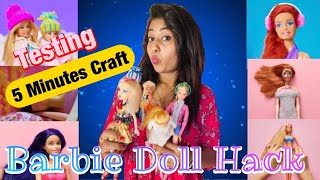 Testing Out Viral Barbie Doll Hacks From 5 Minutes Craft *BLOOPERS* In Tamil | Barbie Doll Hacks~TPB