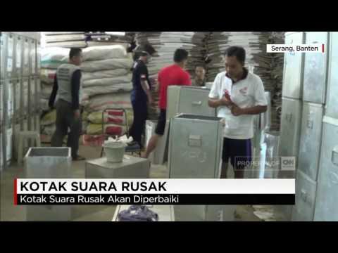 KPU Kota Serang Temukan 20% Kotak Suara Rusak