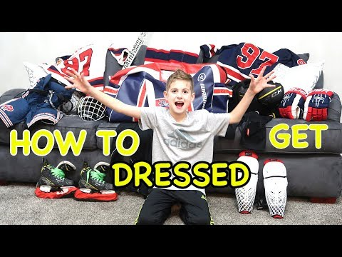 Kids HocKey How to Get Dressed - Putting on Equipment