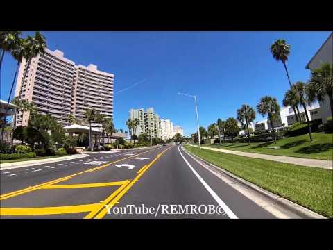 Driving North On Sand Key Beach, Florida