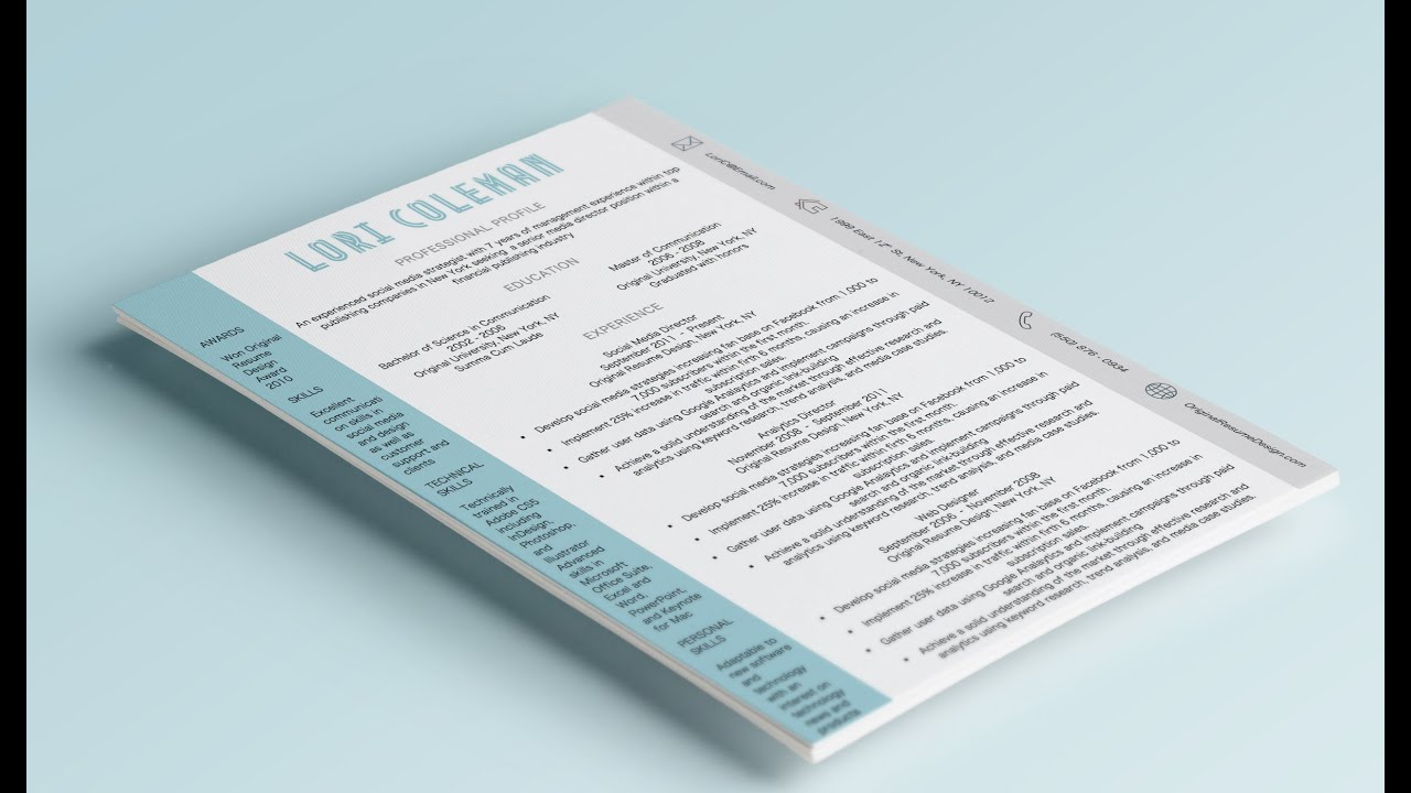 How To Design A Creative Resume In Microsoft Word (download)   YouTube