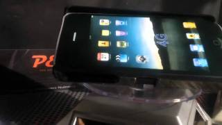 Coque carbone iphone 4 / 3GS avec support inclinable