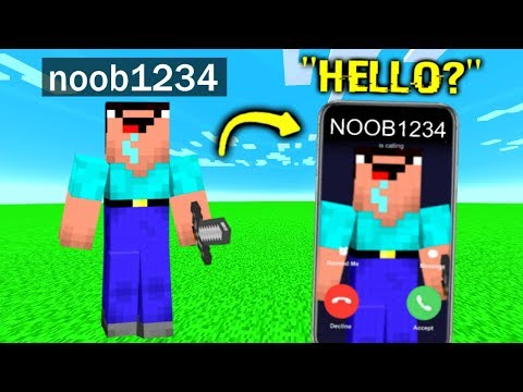 I Called Noob1234 In Minecraft..
