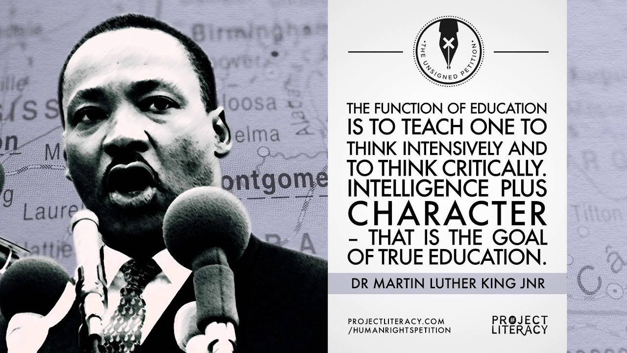 Project Literacy Martin Luther King Jnr Quote
