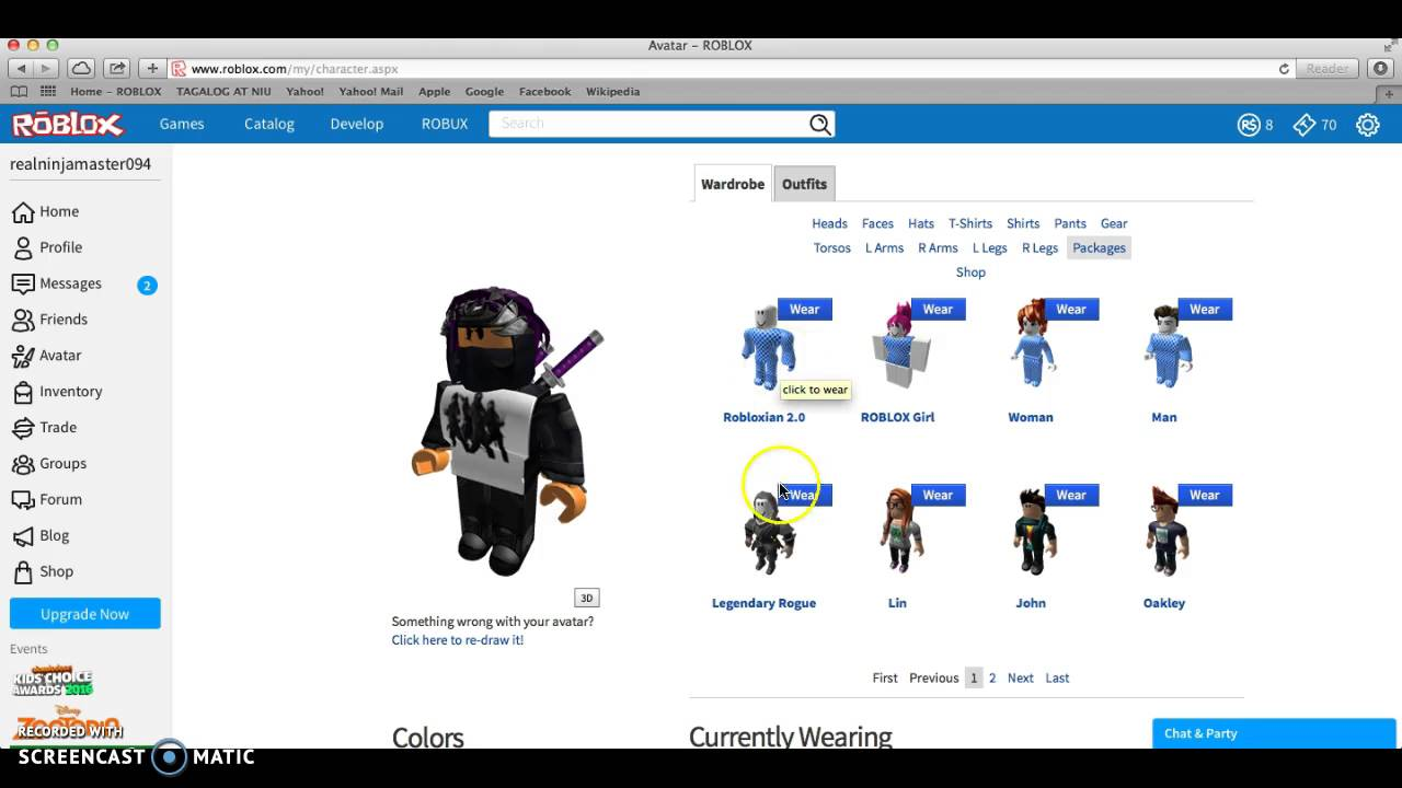 Make Your Own Roblox Character Online How To Customize Your Roblox Character Youtube