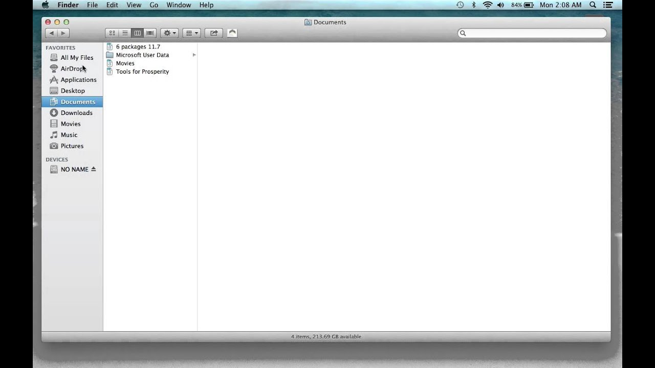 How To Open A New Finder Window On A Macbook Pro Laptop Tutorial