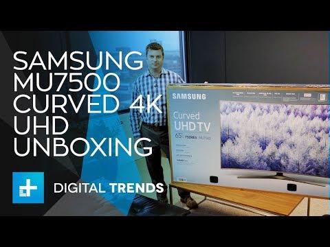 Samsung MU7500 Curved 4K UHD TV - Unboxing
