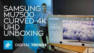 Samsung MU7500 Curved 4K UHD TV - Unboxing