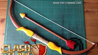 How to Make a Clash of Clans Archers Bow & Arrow