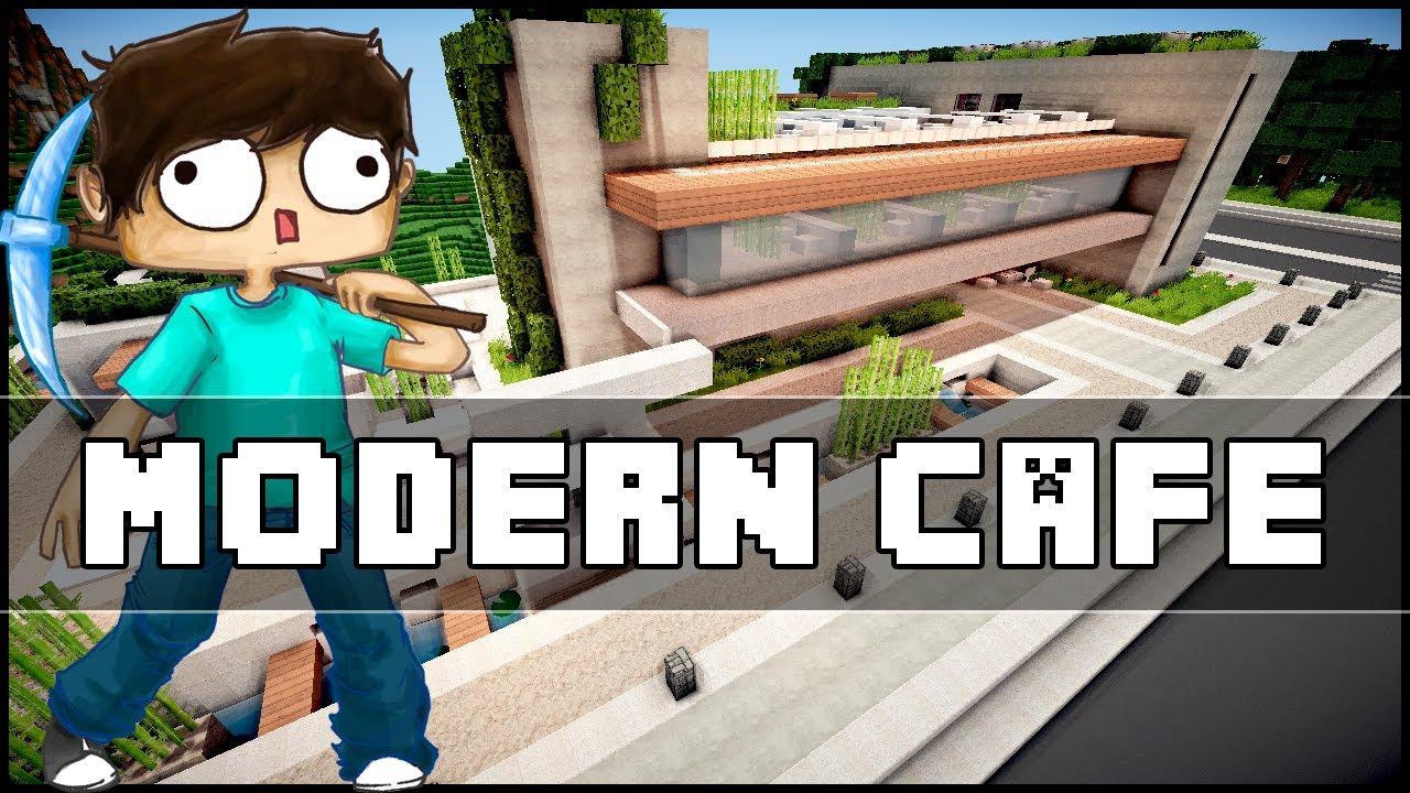 Minecraft - Modern Cafe - YouTube