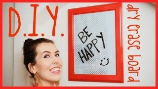 ♥ D.I.Y. ♥  Dry Erase Board! Thumbnail