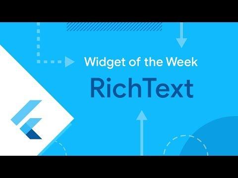 RichText (Flutter Widget of the Week)