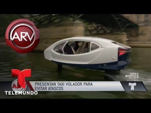 Taxi volador evita atascos en la vía en Francia | Al Rojo Vivo | Telemundo