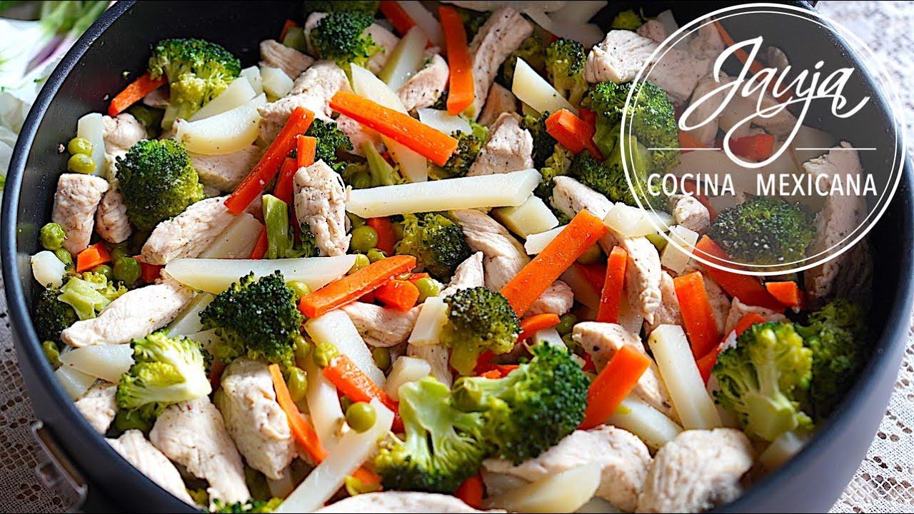 Pollo con Verduras a la Mantequilla, Ajo y Limón
