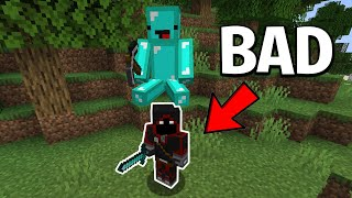 Minecraft, But My Friend Has to Carry Me...
