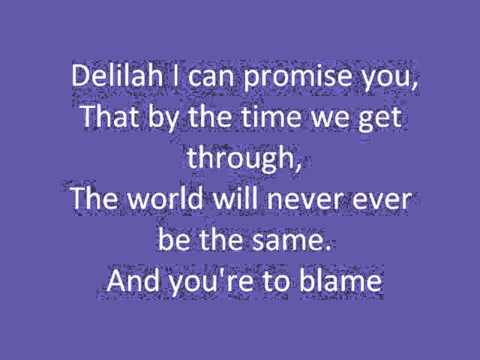 Hey There Delilah - Plain White T's  (Lyrics on screen)