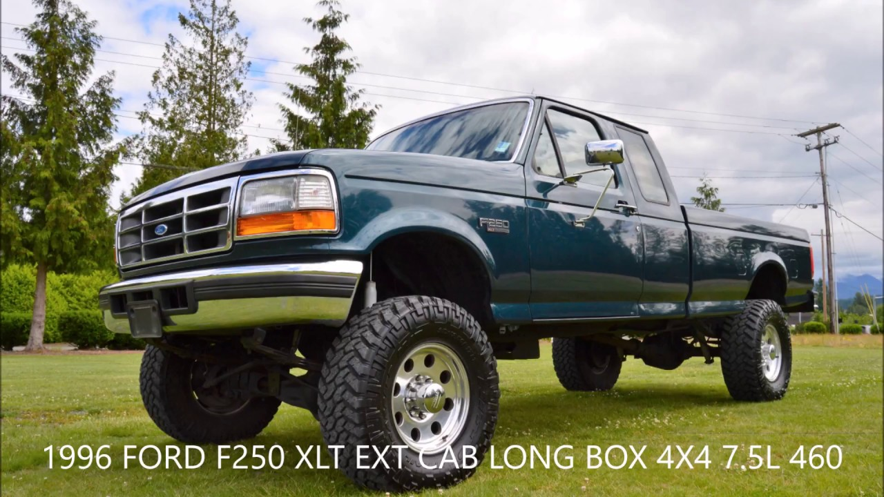 hight resolution of 1996 f250 xlt ext cab long box 4x4 7 5l 460 v8 136k miles local truck