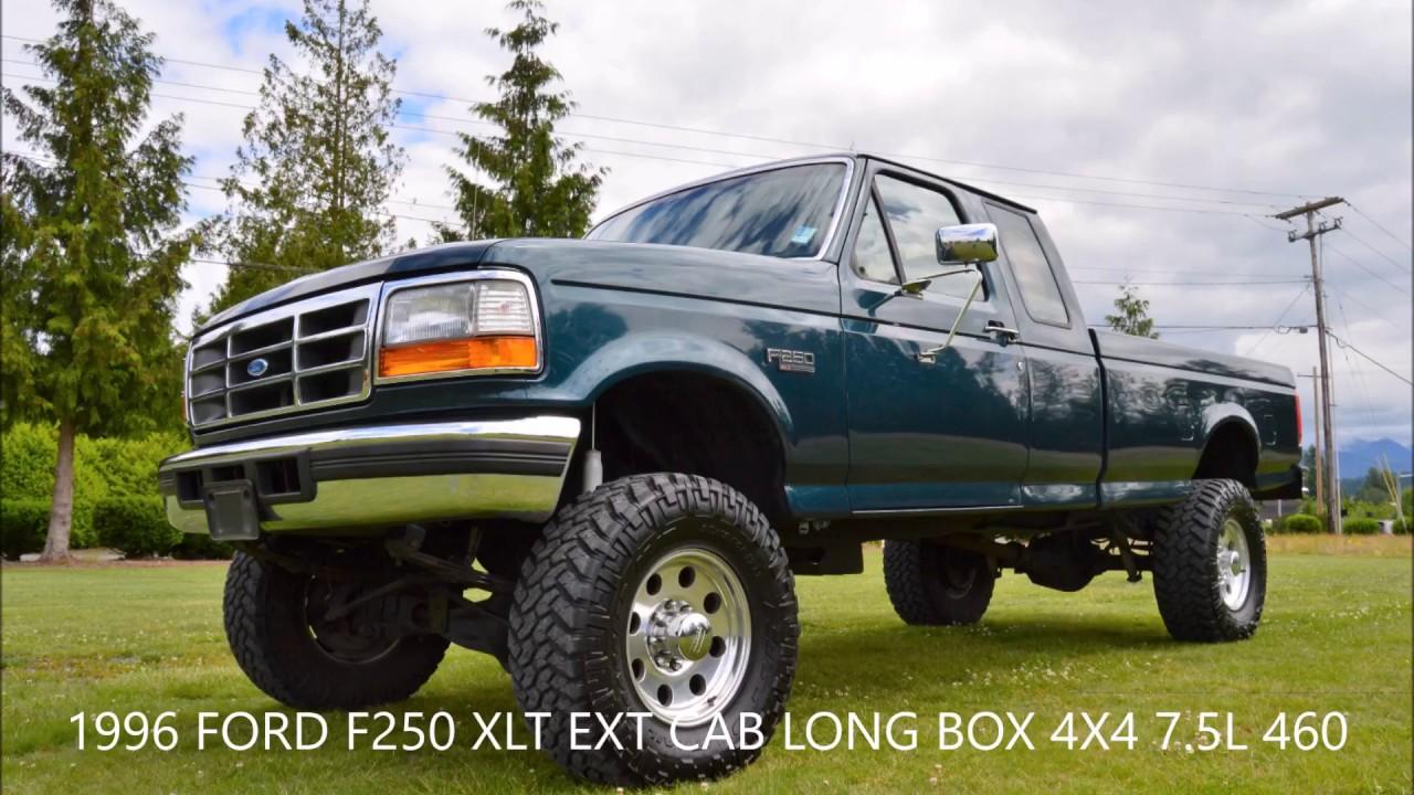 1996 f250 xlt ext cab long box 4x4 7 5l 460 v8 136k miles local truck [ 1280 x 720 Pixel ]