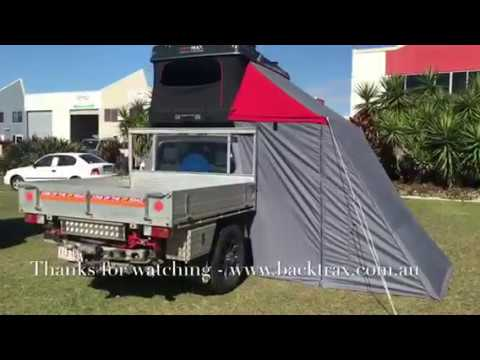 Backtrax Rooftop Tent Redwing Change Room Awning And Walls Final