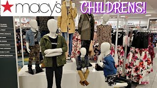 MACY'S CHILDRENS CLOTHING  BOYS AND GIRLS * SHOP WITH ME 2019
