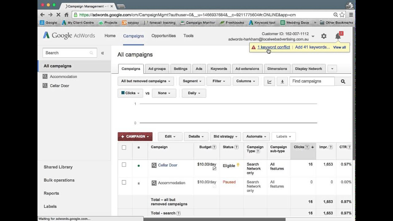 downloading google adwords invoices youtube