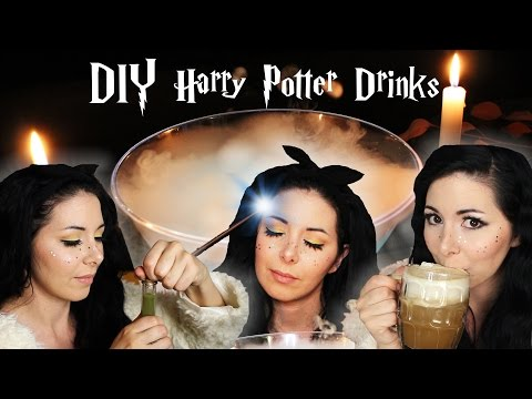 [DIY] HARRY POTTER DRINKS ⚡️ PENSIEVE | BUTTERBEER | POTIONS