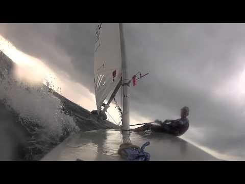 Heavy wind storm sailing in Dubai