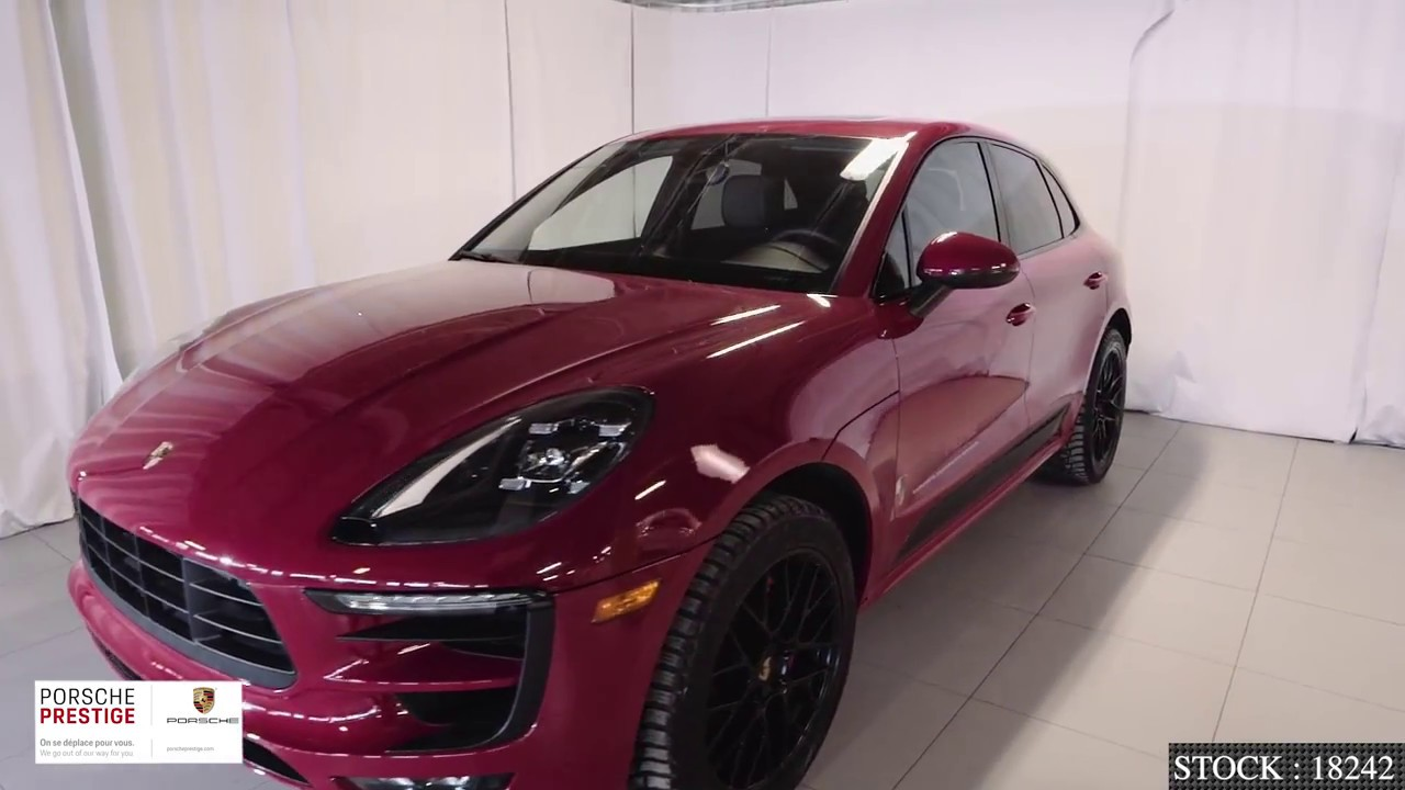 Carmine Red on Black GTS package 2018 Porsche Macan GTS