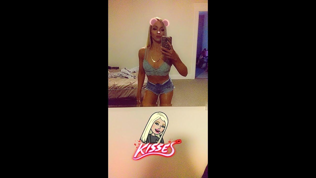 Sexy blonde short shorts are mistaken