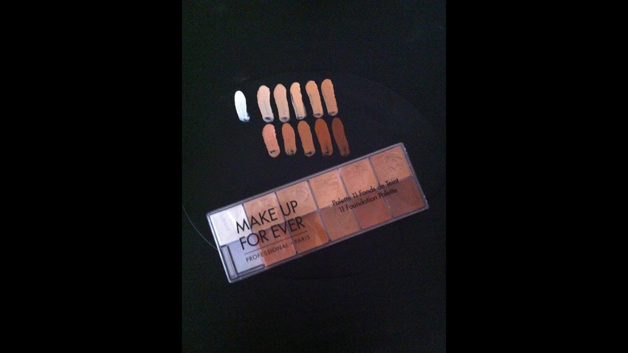Makeup forever 11 foundation palette